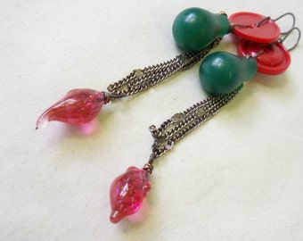 Random bits earrings for Christmas