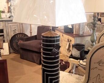 French WallPaper Roller Lamp Unique Geometric Pattern Architecture Design  Vintage Lighting