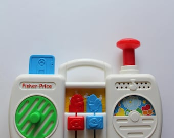 Vintage Fisher Price Musical Boombox Toy 1991