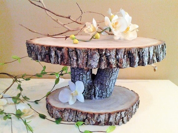 wedding cake standa rustic wedding cake stand wood tree slice wood cake stand 25608