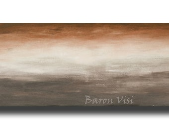 brown Acrylic Painting Abstract large original wall art home interior office decor Textured impasto canvas modern Oil customVisi