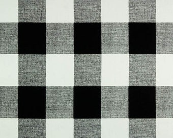 Black and White Buffalo Check Curtains, Rod Pocket 84 96 108 or 120 Long x 24 or 50 Wide,