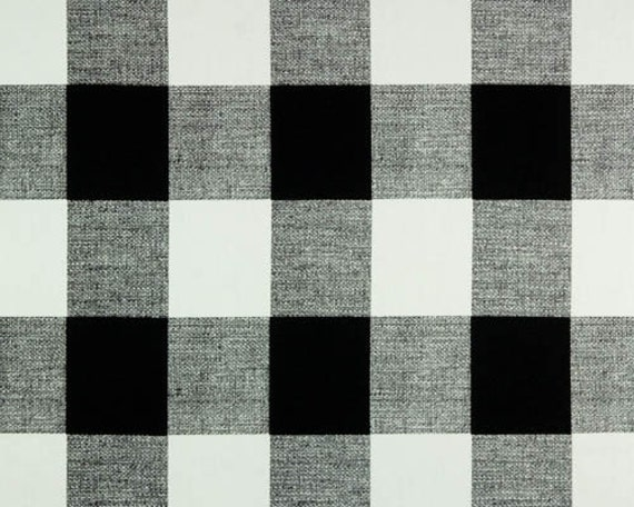 Black and white buffalo check curtains rod pocket 84 96 108