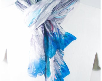 "SALE. Hand-painted silk shawl. 36x67"" FLAT. Hand-painted silk wrap. Hand painted silk. Painted silk scarves~Silk Painting~Painted silk scarf"