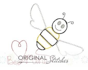 Quick Stitch Bee Mine Valentine's Day Machine Embroidery Design File 4x4 5x7 6x10 8x8