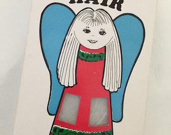 Vintage Union Wadding Box Christmas Angel Hair, Retro Christmas Decor, Spun Glass, Pawtucket Rhode Island, Vintage Graphics Decorations