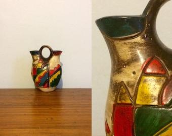 Vintage Native American Wedding Vase / Pueblo Indian Pottery / Southwestern Decor