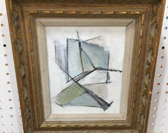 SOLD Abstract Mid Century Inspired geometric painting