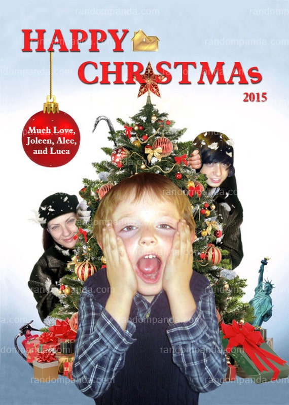 Personalize funny home alone christmas card by random for Home alone theme decorations