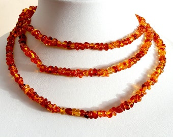 Natural Baltic Amber Cognac  Necklace Adult Necklace