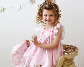 Clara Dress and Top with Bloomers or Shorties PDF Pattern & Tutorial,  All Sizes 2-10 years included