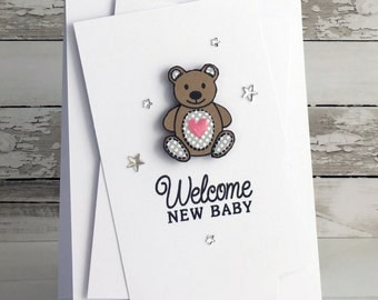 Welcome Baby Bear Card
