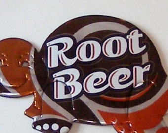 Turtle Magnet - Root Beer Soda Can