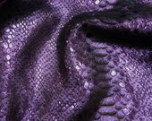 """Metallic Leather 8""""x10""""MYSTIC Violet on Black Bling Cowhide 2.5-3 oz / 1-1.2 mm PeggySueAlso™ E2868-43"""