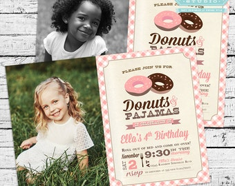 Donuts Birthday Party Photo Invitation + Our 4 Favorite Printables!