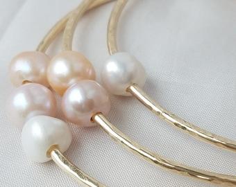 12G Freshwater pearl bangle set
