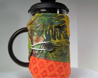 Hawaiian French Press Cozie, Insulated Coffee Pot Cozy, Bodum 8 Cup Press Pot Cosy, Hot Pot Sleeve Cozie
