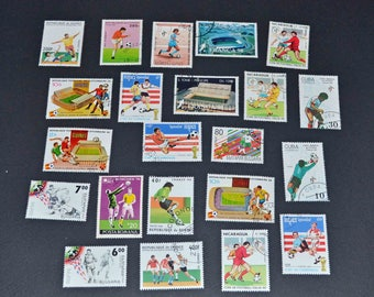 50 soccor stamps from around the world