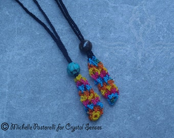 Interchangeable Macrame Tumbled Stone Necklace (INN0006)