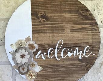 Indoor/Outdoor Rustic Welcome Sign