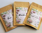 Trial Set of Natural Sugar Scrubs -  3 pack set - Coffee & Cacao, Cleopatra Rose, Matcha Sugar Scrub