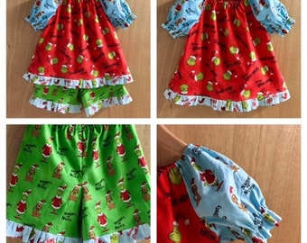 Grinch pajamas – Etsy