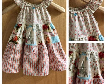 Boho Peasant Style Cotton Summer Dress, size 3t
