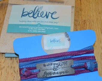 Wrap Bracelet Silk Ribbon Inspirational Jewelry Free Gift Wrap