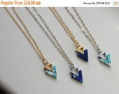 20% SALE - Gold Triangle Necklace, Silver Triangle Jewelry Marble Necklace Marble Jewelry Minimalist Jewelry Bridesmaid Gift for Her Dainty