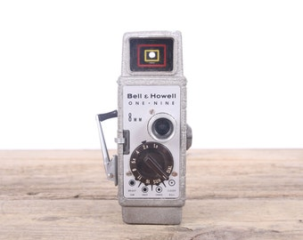 Bell & Howell Movie Camera / Bell and Howell One Nine Camera / Antique 8mm Movie Camera / Old Movie Camera / Antique Movie Camera