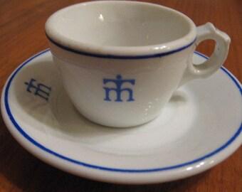Alvarez Hotelware Demitasse Cup and Saucer Unknown Logo