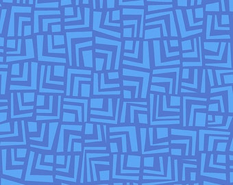 Blue Tone on Tone Abstract Squares from Andover Fabric's Improv Collection by Carol Van Zandt