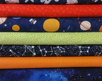 Astronaut Bundle from Timeless Treasures (8 Fabrics Total)