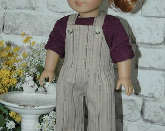 American, Made, girl, doll, overalls, fit 18 inch doll, pants, doll clothes