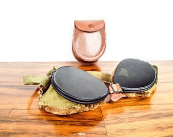 Vintage WWII Military US Army Ski Goggles FGCO, One of a Kind Gift Ideas for Soldier, Birthday Present for Him, Cool Eyewear Glasses