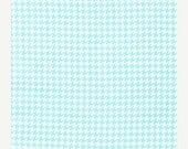 SHOP CLOSING SALE Michael Miller Fabric by the yard Tiny Houndstooth in Aqua 1 yard