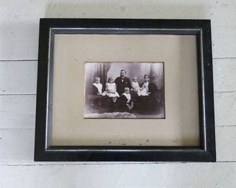 Antique family photo with frame