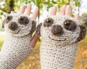 Meerkat / Suricate Fingerless Gloves ~ Handmade