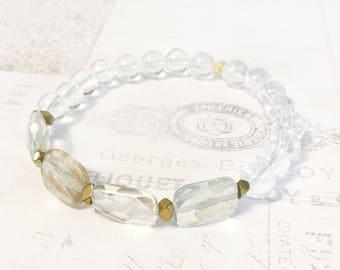Quartz Bracelet - Yoga Bracelet - Yoga Jewelry - Healing Jewelry - Energy Bracelet  - Crystal Bracelet - Healing Bracelet