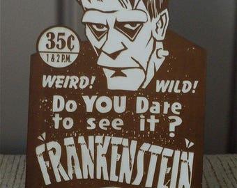Custom CAPITOL THEATER FRANKENSTEIN Counter Display Tribute 1931 Monster Movie Bride