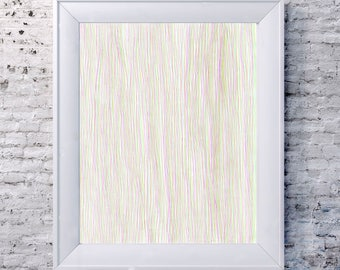 CMY ~ Abstract Pastel Line Drawing Print
