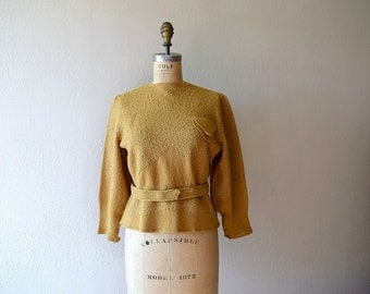 1930s sweater . vintage 30s knit top
