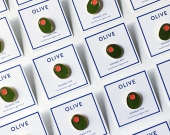 Green Olive Enamel Pin