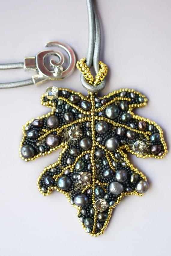 Leaf me alone kit bead embroidery