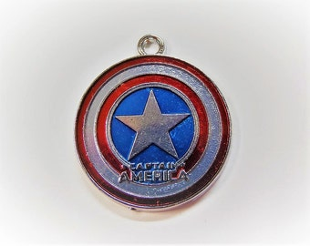 30mm Captain America Inspired Charms, 2CT,   (Y44)
