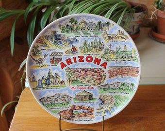 Vntg Arizona Collectable Souvenir Decorative Plate