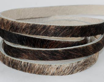 Two-Layer Leather Lace, Hair on Cowhide Genuine Leather Strap