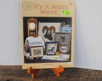 It's A Man's World Cross My Heart 1988 Cross Stitch Book