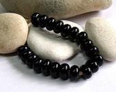 Black, Lampwork Spacer Beads, SRA, UK