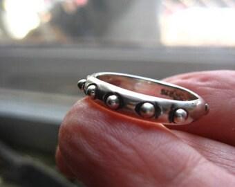 Artisan Handmade Sterling Band Size 9.5